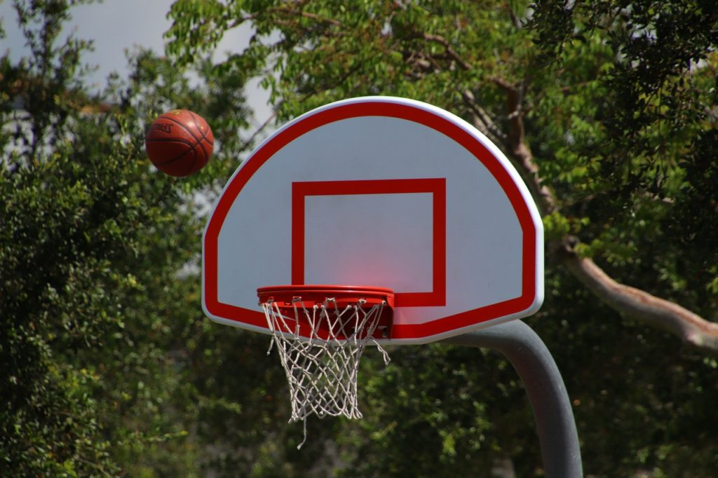 how to convert portable basketball hoop to inground